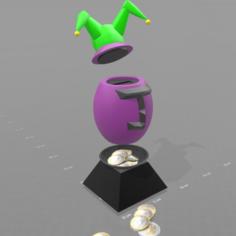 "Piggy bank ""wild egg"" 3D Print Model"