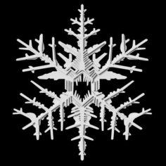 Snowflake 3D Print Model