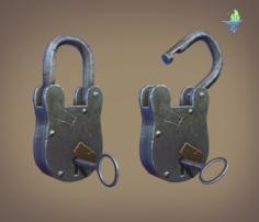Medieval Padlock 3D Model