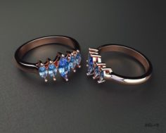 Ring with marquis 3D Model