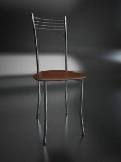 Chair chrome Free 3D Model
