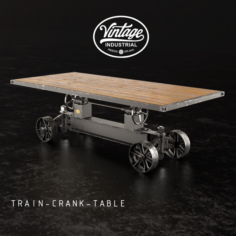 Train-crank-table 3D Model