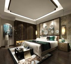 Stylish master bedroom design 64 3D Model