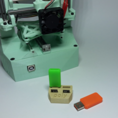 USB Poly Holder 3D Print Model