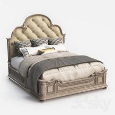 Hooker Furniture King Upholstered Panel Bed                                      3D Model