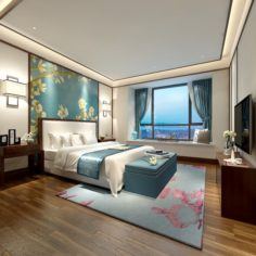 Stylish master bedroom design 72 3D Model