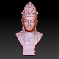 guanyin bodhisattva kwan-yin sculpture for cnc or 3d printer 42 3D Print Model