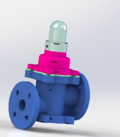 The oil return valve Free 3D Model