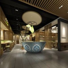 Restaurant teahouse cafe drinks clubhouse 168 3D Model
