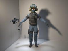 Soldier-Policeman 3D Model