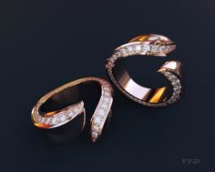 Ring with stones 3D Model