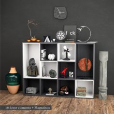 18 decor elements 3D Model