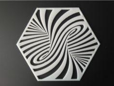 100Hex Twirl 3D Print Model