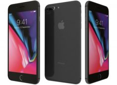 Apple iPhone 8 Plus Space Gray 3D Model