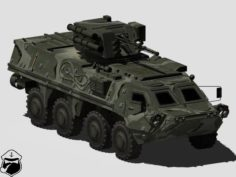 BTR-4 Bucephalus armoured personnel carrier 3D Model