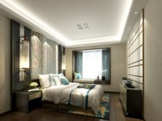 Stylish master bedroom design 62 3D Model