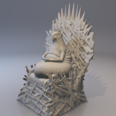 Throne 3D Print Model