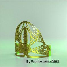 Dragonfly Cuff 3D Print Model