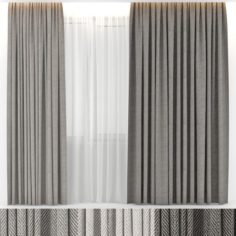 CURTAINS WOOL 3D Model