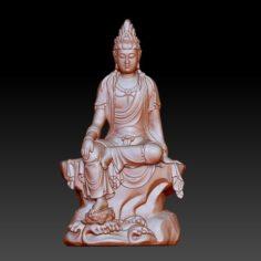 guanyin bodhisattva kwan-yin sculpture for cnc or 3d printer 46 3D Print Model