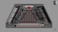 Sci-fi Corridor door section 1 3D Model