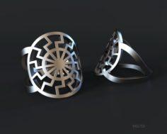 Ring black sun mascot 3D Model
