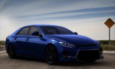 Toyota Mark X 2016 3D Model