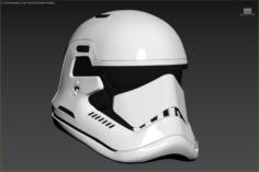 The Last Jedi First Order Executioner Stormtrooper Helmet 3D Model