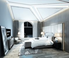 Stylish master bedroom design 36 3D Model