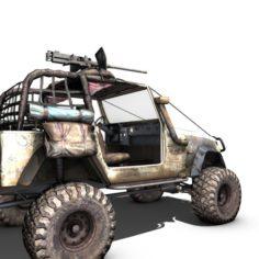 Jeep 4×4 Gun Rigged 3D Model