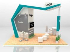 Exhibition Stand 6×4 Include Fabrication 3D Model