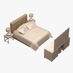 Bed Set 04 3D Model