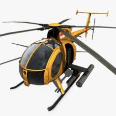 Hughes AH-6 Little Bird 3D Model