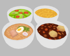 Food Pack – Low Poly Hand Painted 3D Model