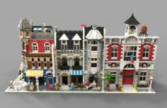 Lego City VR – AR – low-poly 3D Model