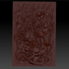 TIBETAN BUDDHA RELIEF MODEL FOR CNC 3D Print Model