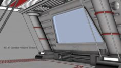 Sci-fi Corridor window section 1 3D Model