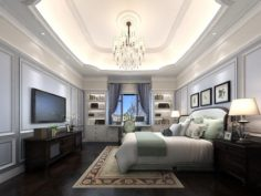 Stylish master bedroom design 50 3D Model
