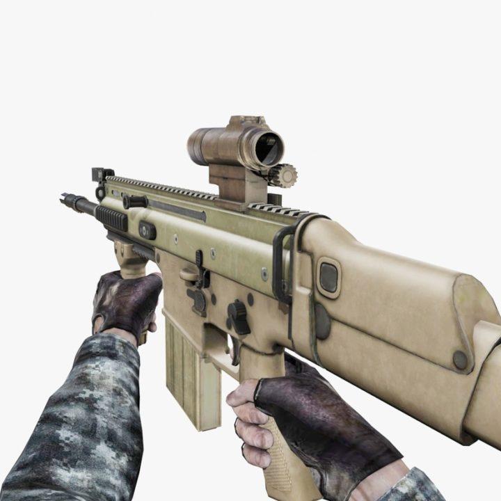 MK17 Assault Rifle 3D Model