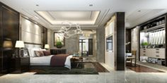 Stylish master bedroom design 40 3D Model