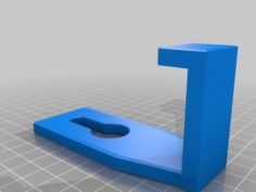 Drawer Hook for Headphones etc. 3D Print Model