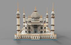 Lego mosque VR – AR – low-poly 3D Model