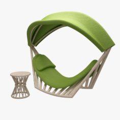 Deckchair 3D Model