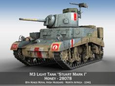 """M3 Light Tank Mark 1 """"Honey"""" 3D Model"""