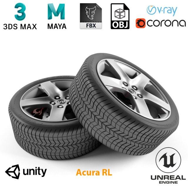 Acura RL Wheel 3D Model