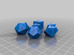 Dice set for D&D 3D Print Model