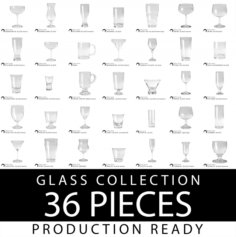 Glass Pack – all in one 36 Pieces 3D Model