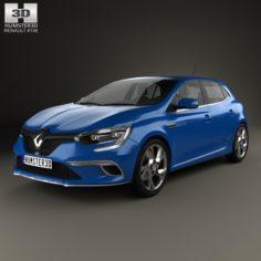 Renault Megane GT 2016 3D Model