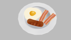 Breakfast Pack – Low Poly Hand Painted 3D Model