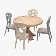 Dinner Set 09 3D Model